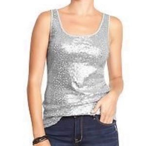 BeBe Sequin (Sequence) Front  Burn Out Tank Top